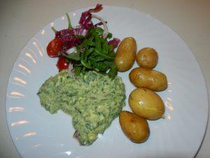 Vegan food with potatoes